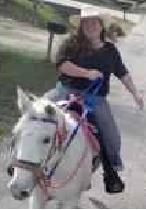 Me Riding my cousin's horse Sugar.