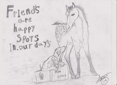 Friends are happy spots in our day'