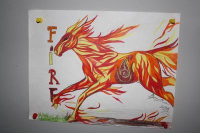 Fire nation horse - I call him Flames (8/17/2016)